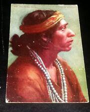 VINTAGE POSTCARD - JUAN PEDRO, A NAVAJO INDIAN - EARLY 1900's