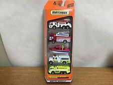 Matchbox  Emergency Rescue 5 Car Set Pack w/Fire Truck, Boat SET B