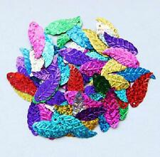 60pcs Sequins Leaf Mixed Applique Embellishment Bead Sewing Paillette Craft #7