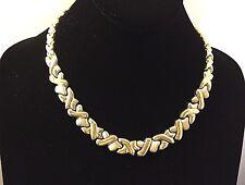 14K Solid Gold Hugs&Kisses Necklace