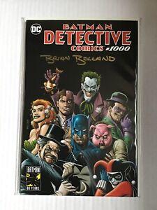 DETECTIVE COMICS # 1000 BRIAN BOLLAND SIGNED FP VARIANT SET DC COMICS