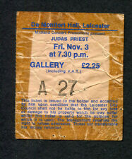 1978 Judas Priest Lea Hart concert ticket stub Leicester Hell Bent For Leather