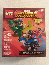 LEGO Marvel Super Heroes 76064 Mighty Micros Spiderman vs Green Goblin NEW 85 pc