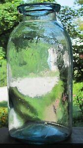 Big Half Gallon Aqua Wax Sealer Fruit Jar