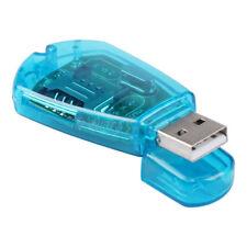 Blue USB SIM Card Reader GSM CDMA Mobile Phones SMS Backup