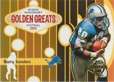 2005 Topps Golden Greats #GA6 Barry Sanders card, Detroit Lions