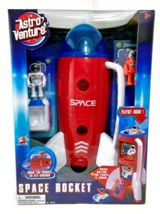 Astro Venture Spaceship Space Rocket Toy Play Set w 2 Astronauts & Rover Vehicle