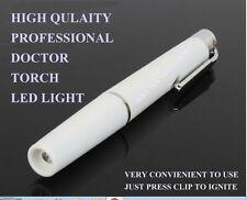 DOCTOR NURSE Medical Pocket Pen Light Flashlight White Pen Light Torch Emergency