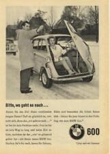 1959 BMW Isetta 600 Bitte, wo geht es nach... ca. 13x18 cm original Printwerbung