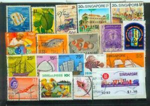 Lot Briefmarken aus Singapur