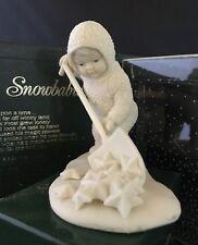 """Department 56 SNOWBABIES Bisque Figurine """"SO MUCH WORK TO DO''"""