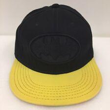 Batman Hat Snapback Cap DC Comics Classic Yellow Black Robin Superhero TV Movies
