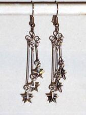 Ohrringe Stern Zeichen Symbole Damen Ohrschmuck Modeschmuck Silber Ohrhänger