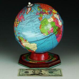 VTG 1950'sTin Litho Globe J. Chein & Co Made in the USA (1949-1952) Zodiac