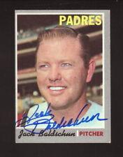 Jack Baldschun--Autographed 1970 Topps Baseball Card--San Diego Padres