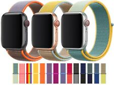Nylon Woven Strap Band For Apple Watch Series 6 5 4 3 2 1 SE 38mm 40mm 42mm 44mm