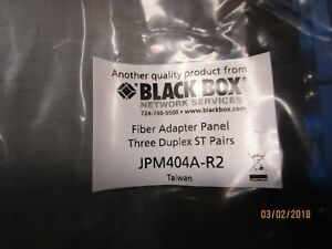 Black Box 6 fiber, st, snap in adapter panel JPM404A-R2
