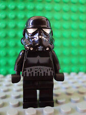 Lego Star Wars Minifig ~ Dark Shadow Stormtrooper ~ Trooper 7667 7664 Black #xzq