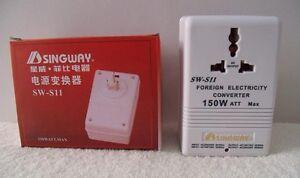 SW-S11 power voltage converter for electric appliances 110V to 220V&220V to 110V