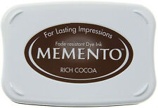 NEW! Tsukineko Memento Full Size Ink Pad - RICH COCOA (Brown)