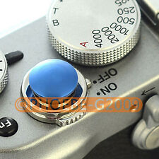 Blue Metal Soft Release Button for Leica Contax Fujifilm X100 size:S