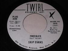 Skip Evans: Freckles / Dusty Road 45 - Rockabilly bopper