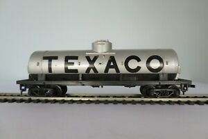 Tyco TEXACO TANK CAR 40' SILVER, 315A HO SCALE MODEL, VINTAGE IOB
