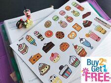 PP327 -- Kawaii Cupcake Dessert Planner Stickers for Erin Condren (30pcs)