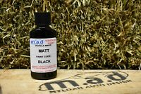 M.A.D MATT BLACK ALLOY WHEEL PAINT TOUCH UP KIT 30ML MATTE CURB SCRATCH ALLOY
