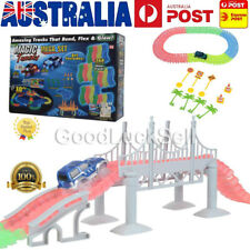 Magic Tracks 18 ft. Mega Set With LED Race cars Colorful Glow In The Dark in AU