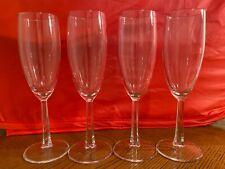 4 Beautiful, Vintage Champagne Flutes W/ 6 Panel Cut Stems