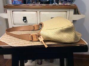 Fossil Woven Hobo Shoulder Purse Handbag- EUC