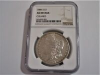 1886-S Morgan Silver Dollar NGC Certified  AU Details RARE Low Mintage Morgan