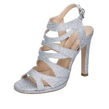 scarpe donna OLGA RUBINI sandali argento glitter BJ389
