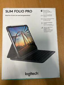 Logitech Slim Folio Pro Keyboard Case For iPad Pro 11-inch (1st and 2nd Gen)