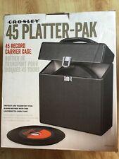 "Crosley 7"" record Vinyl Case Holds approx 35 Singles-NEW/en boîte"