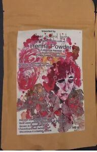Henna Powder - Fresh Natural hair dye - 2020 Harvest- 100gm packet