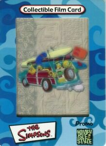 THE SIMPSONS 3-D 2000 Promo Card!!! No# Artbox Film Cards Homey Isle Style