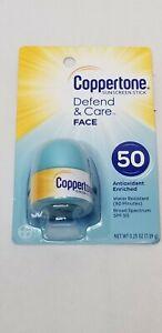 Coppertone Defend & Care Face Sunscreen Stick Exp. 10/21 New MSB1