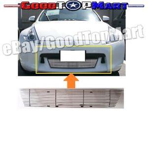 FOR NISSAN 370Z 2009 10 11 2012 BUMPER Polished BILLET GRILLE INSERT BOLT ON
