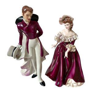 Vtg Florence Ceramics Pasadena Calif MUSETTE And Victor Figurine Couple