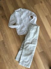 b57d27c3e Mila Blue Vertbaudet French Linen Trousers And Shirt Outfit Age 3 Boys VGC  Smart
