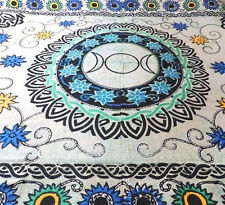 Triple Moon Goddess Floral Flowers Celtic Wicca Altar Cloth Bedspread TAPESTRY