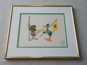 Original WARNER Bros. Duck Dodgers Marvin Martian Daffy Duck SeriCel Cel Cell !!