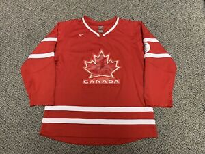 2010 Olympics Hockey Canada Jersey Vancouver Red Home Nike Large L XL Boys Youth