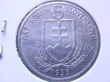 Slovakia - Alte Münze - 5 Korun 1939 - Narod Slobadu