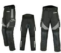 Motorradhose wasserdichte Textilhose GRAU Protektoren/Taschen Gr. XS - 6XL