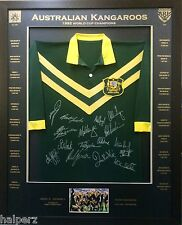 Blazed In Glory - 1992 Kangaroos World Cup - NRL Signed and Framed Jersey
