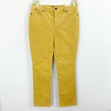 NEW Talbots Heritage Fit Corduroy Pants Size 10 Straight Leg Yellow Cotton Blend