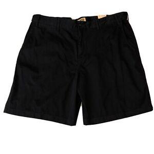 NWT FOUNDRY Mens Black Cotton Flat Front Bermuda Shorts Sz 48